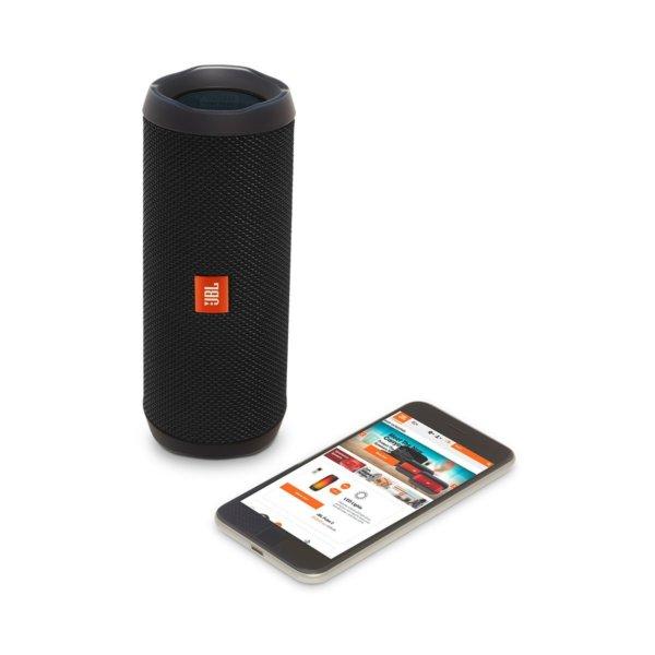 JBL Flip 4 Portable Wireless Speaker with Powerful Bass & Mic (Black)-1414