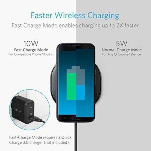 Anker PowerPort Wireless 10, Anker Qi-Certified Wireless Charging -1471