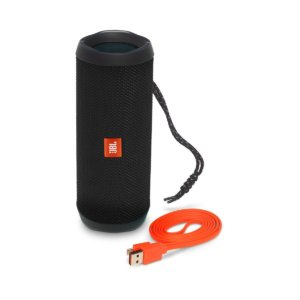 JBL Flip 4 Portable Wireless Speaker with Powerful Bass & Mic (Black)-0