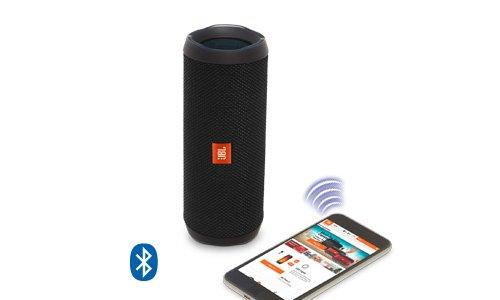 JBL Flip 4 Portable Wireless Speaker with Powerful Bass & Mic (Black)-1419