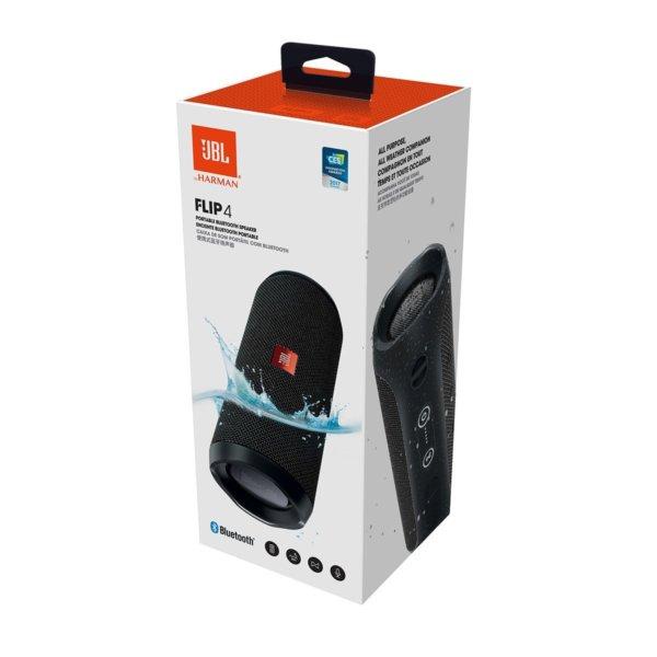 JBL Flip 4 Portable Wireless Speaker with Powerful Bass & Mic (Black)-1416