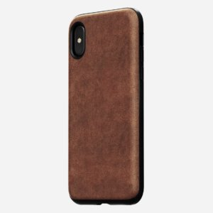 "Nomad Case for Apple iPhone X (5.8"") Rugged Leather Rustic Brown-0"