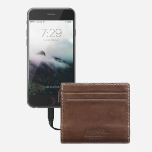 Nomad Slim Horween Leather Charging Wallet for iPhone-0