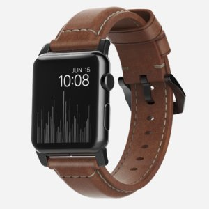 Nomad Horween Leather Strap for Apple Watch Traditional Build- Classic Bold Look -0