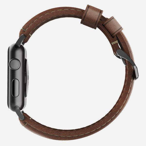 Nomad Horween Leather Strap for Apple Watch Traditional Build- Classic Bold Look -1637