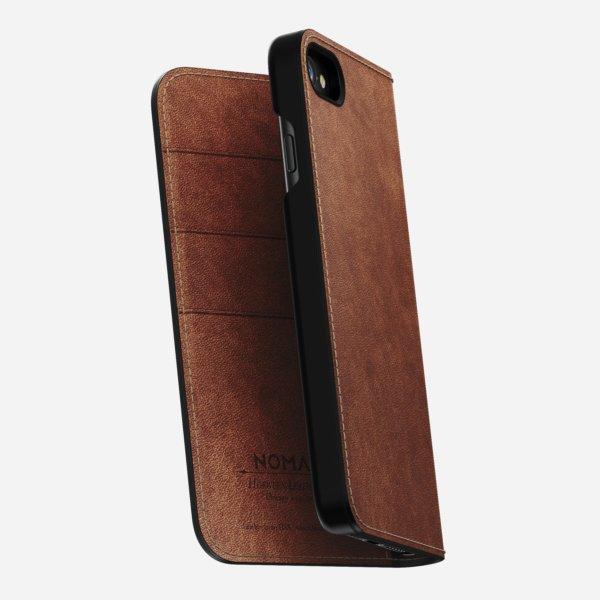 Nomad Leather Folio iPhone 8/7 Case(Rustic Brown)-0