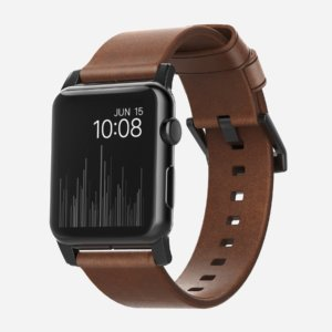 Nomad Horween Leather Strap for Apple Watch Black Hardware-0