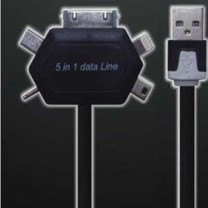5in1 Multiple Flat Charging Cable for Mobile & Tab