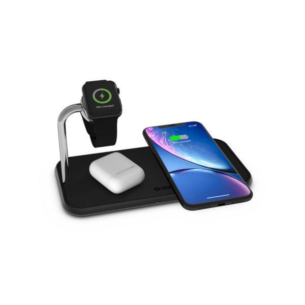 ZENS Dual+Watch Aluminium Wireless Charger - MFW