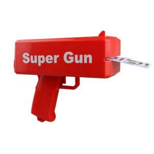 SUPER GUN, Super Money Gun with Battery Props Money