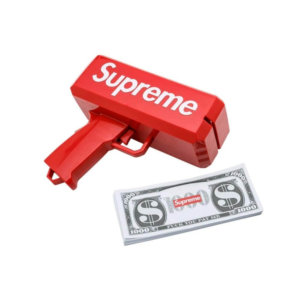 SUPERME GUN,New Cash Cannon Money Gun Make It Rain Money Gun Red Cash Gun Adult Party Toys Fashion Toy Gift(Red)