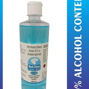 Medi-Clean Hand Rub 70% Alcohol Hand Sanitizer 500 ML