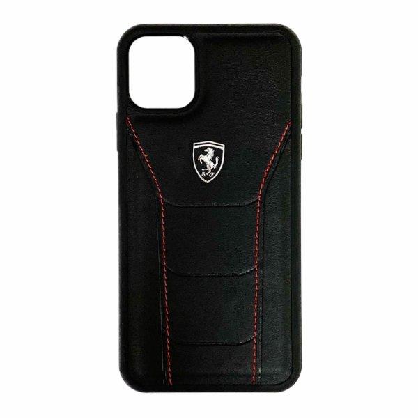 Ferrari Heritage Leather Case for iPhone 12 Series