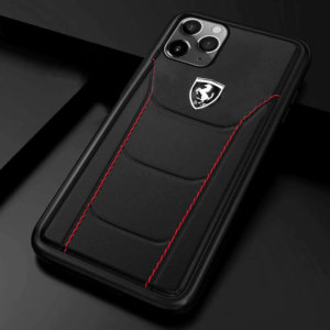 Ferrari Heritage Leather Case for iPhone 12 Series